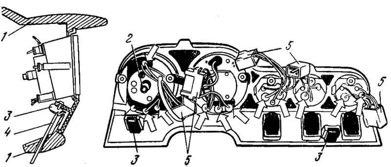 Снятие щитка приборов автомобилей ВАЗ 2103, 2106
