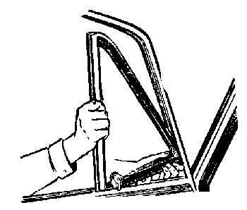 Снятие поворотного стекла