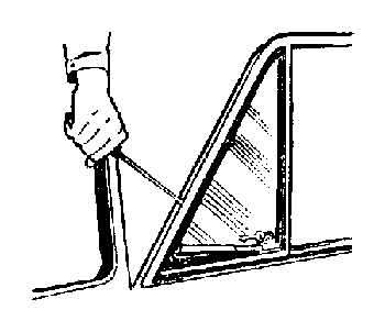 Снятие рамки поворотного стекла передней двери