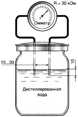 Проверка качества дистиллированной воды