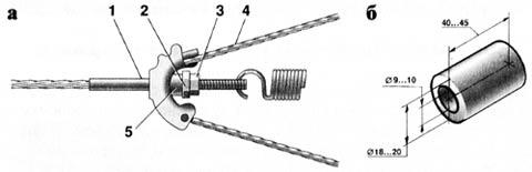 Регулировочный узел стояночного тормоза