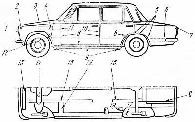 Схема дополнительной антикоррозионной обработки кузова