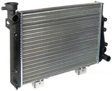 Алюминиевый радиатор охлаждения двигателя