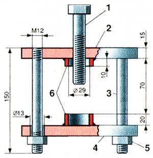Приспособление (съемник) для разборки карданных шарниров