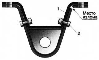 Усиление кронштейна 1 болтами 2