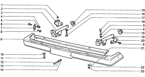 Крепление бампера ВАЗ 2107