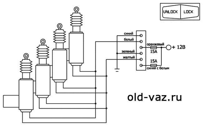Схема подключения центрального
