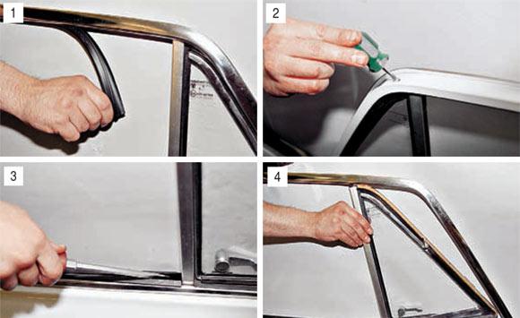 Замена поворотного стекла передней двери