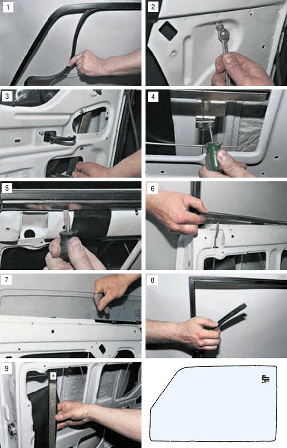Замена стекла передней двери ВАЗ 2104, 2105, 2107